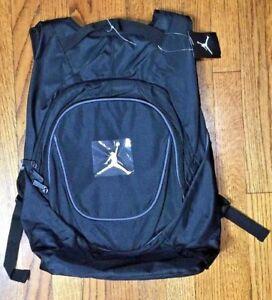 0f9e503eba15 Nike Air Jordan Jumpman Black Book-Bag BackPack 9A1118-804 Size O S ...