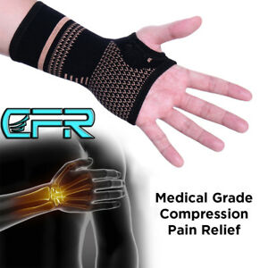 CFR-Copper-Wrist-Support-Gloves-Hand-Palm-Brace-Arthritis-Compression-Sleeve-NEW