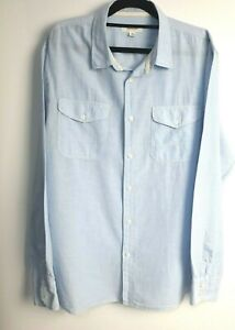 Country-Road-Men-039-s-Blue-Striped-Long-Sleeve-Shirt-Size-XXL