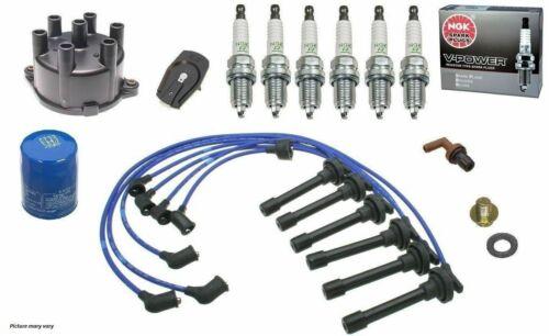 OEA Tune-Up Kit Cap Rotor NGK Wires-Spark Plug PCV 98-99 Honda Accord V6 3.0L