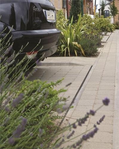 Heavy Duty PVC Block Paving Brick Slot Drain Channel Drainage 1m Length Fernco