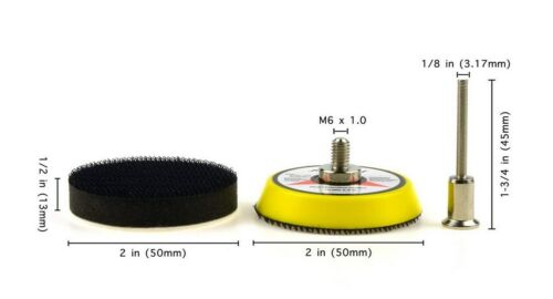 30pcs 2 Inch 60,240,600,1000,5000,10000 grit Wet//Dry Hook and Loop Sanding Discs