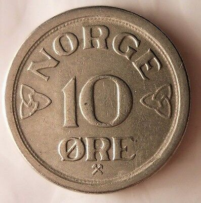 FREE SHIPPING Norway Bin #4 Excellent Coin 1955 NORWAY 5 ORE
