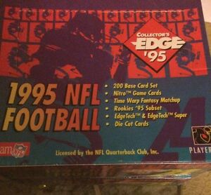 1995 Collectors Edge Football Unopened Factory Sealed 2 Box Lot
