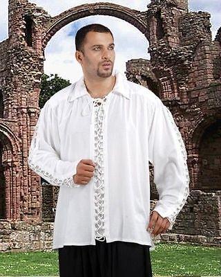 Pirate Shirt Rayon S/M-XXXL Black White Off White Mens Womens Adult NEW (C1034)