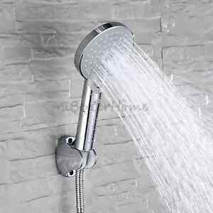 Chrome Bathroom Handheld Shower Head Sets With Hose Wall Bracket