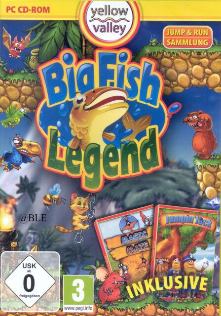 PC CD-ROM + Big Fish Legend + Jump & Run + Magic Maze + Jumpin' Jack + Win 8