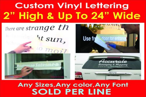 """2/"""" High Custom Vinyl Lettering Personalized Text Wall Window Car Sticker Decal"""
