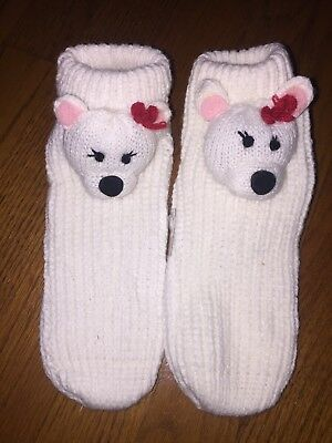 best place reasonable price sale NWOT Cozy Bear Gripper Socks Bedroom Slippers CUTE & FUN Women's ...