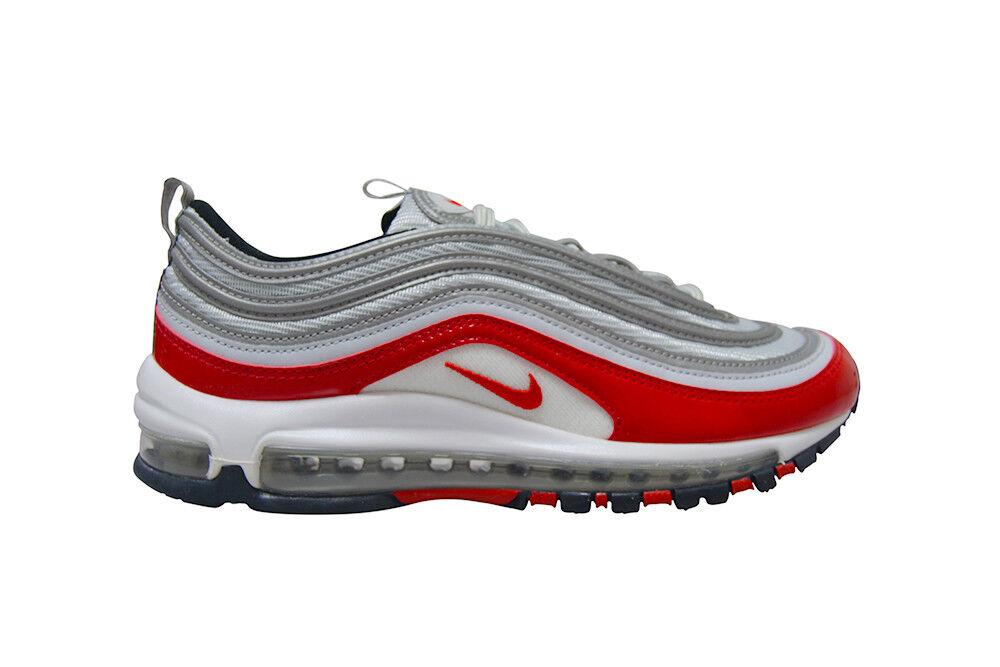 Herren Nike Air Max Max Max 97 Selten - 921826009 - Metallisch Silber Rot Turnschuhe 8114b0