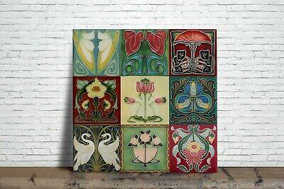 Mosaic Art Nouveau Reproduction fireplace Decorative Ceramic tile 01