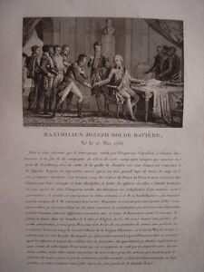 Original Gravure De Maximilien Joseph Roi De Bavière Maximilien Ier De Wittelsbach