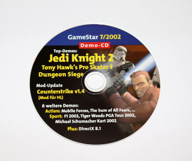 2002 Gamestar CD Demo Jedi Knight 2 Dungeon Siege The Sum of All Fears F1 etc