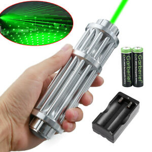 1mW-532nm-Green-Laser-Pointer-Pen-18650-Zoom-Visible-Beam-Light-Charger