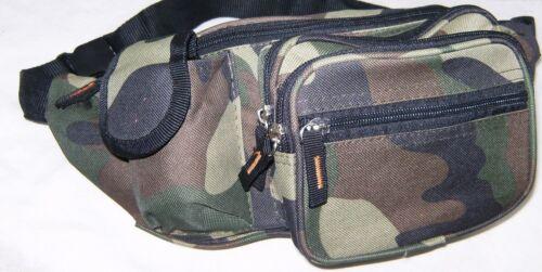 Fanny Pack Camo Water-Resistant Outdoor Mens Waist Travel Pouch Hip Belt Bag