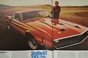 Image Is Loading Rare  Mustang Shelby Gt Vintage Advertisement Ad
