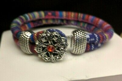 NOOSA  Ginger snap Charm Bracelets Braided Rope Fits 18mm Snap Button