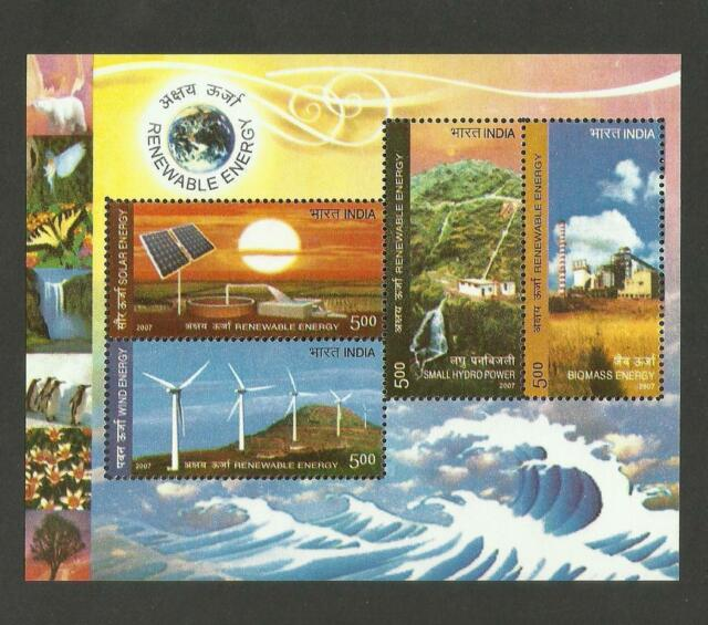 India 2007 MNH Miniature Renewable Energy Stamps