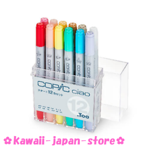 TOO COPIC CIAO Start 12 Color Set w/Tracking Manga Anime Comic Ship from Japan