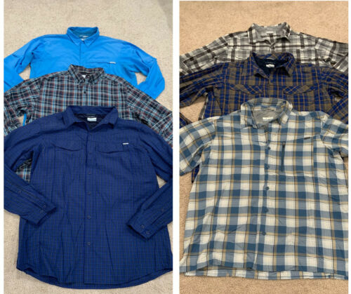 Columbia Men's XL Lot 6 Casual Hiking Fishing Shir