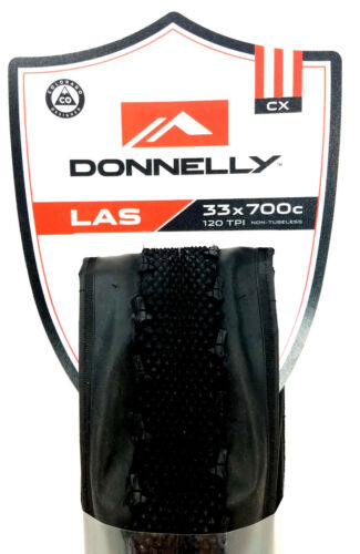 120 TPI Donnelly LAS CX Folding Cyclocross//Gravel Bike Tire 700 x 33mm Black