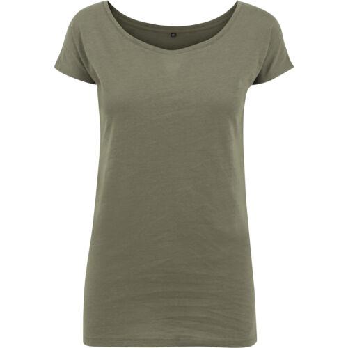 Costruisci il tuo marchio Donna Collo Largo T-shirt BY039
