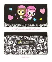 Tokidoki Wallet Neon Star Owl Glittery Hearts & Owls Black & White Characters