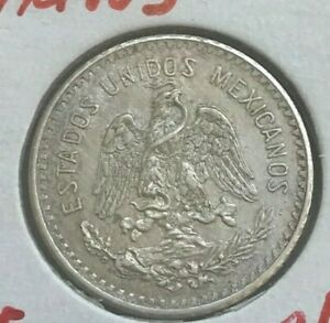 1911 Mexico 10 Centavos - Silver Cleaned