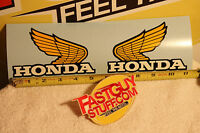 Vintage Honda 1976 Mr250 Factory Fuel Tank Wings 5 3/16 X 3 1/4 132mm X 83mm