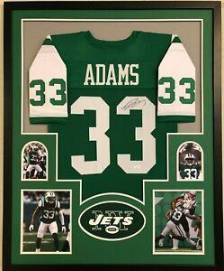 quality design 051fd ef100 Details about FRAMED NEW YORK JETS JAMAL ADAMS AUTOGRAPHED SIGNED JERSEY  JSA COA