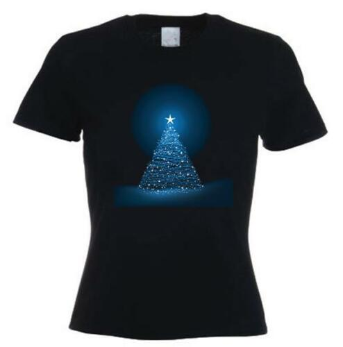 CHRISTMAS TREE WOMENS T-SHIRT Present Gift Xmas Novelty Cute Mum