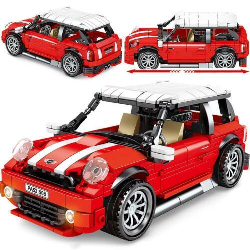 MIni Cooper Racing Sports Car Building Block Brick 557pcs Technic City Pull Back
