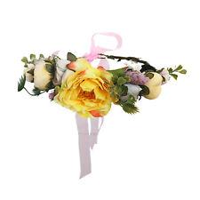 Hair Band Flower Crown Headband for Women Girls Beach Wedding Floral Garland 8cca32b1f8d
