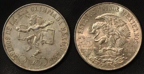 Olympic Games Coin 25 Pesos Juegos de la XIX Olimpiada Mexico 1968 Silver 0.720