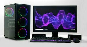 Juegos-PC-Set-24-034-Full-HD-i5-Quad-1-TB-HDD-8-GB-RAM-4-Gb-Gtx-1050Ti-Windows-10-Wifi