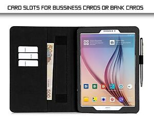 best service 451a1 d9a3a Details about Leather Case Stand Folio Mobile Cover ProCase Samsung Galaxy  Tab S2 9.7