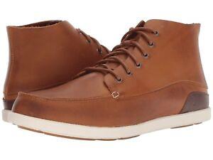 ba1f6e99244 Olukai Men's Nalukai Boot - Stitched Leather - Lace Up - Fox/Bone ...