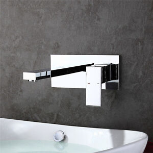 wandmontage armatur waschbecken mischbatterie waschtischarmatur wasserhahn bad ebay. Black Bedroom Furniture Sets. Home Design Ideas