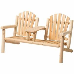 Heavy Duty Sun Lounger, Bestar White Cedar Adirondack Bench In Natural 779711001070 Ebay