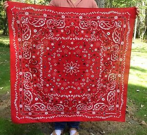 Big-Giant-Extra-Large-Oversize-Wild-Rag-Trainmen-Paisley-Bandana-42x42-inches
