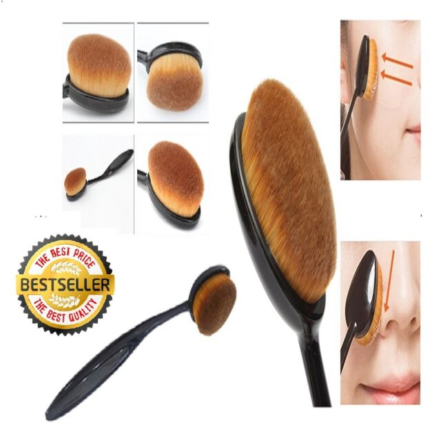 Pro Oval Brush Makeup Cosmetic Foundation Liquid Cream Powder Blush Pigment Tool