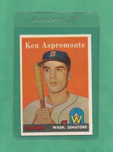 1958 Topps Washington Senators Ken Aspromonte # 405 NM-MT Tough Card !!!!!