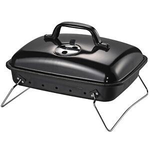 Outsunny-Barbecue-BBQ-a-Carbonella-Portatile-Nero-Ferro-porcellana