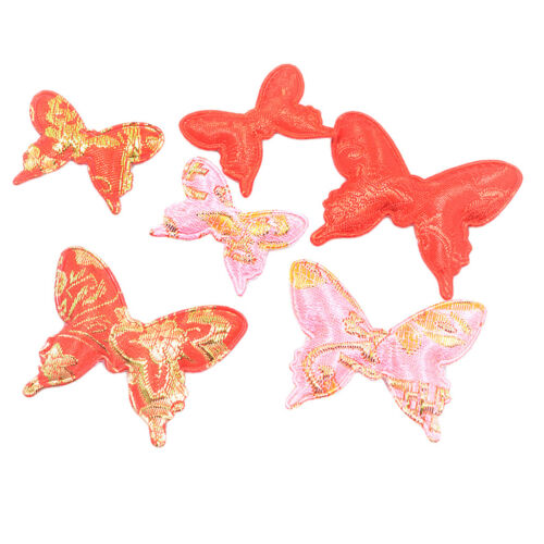 6 Pcs Fine Chinese Style Butterfly Cotton Crafts DIY Hair Costum Accessories