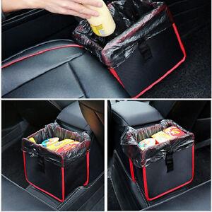 Car Trash Can Wastebasket Storage Box Travel Organizer Bag Fabric Easy Clean 1x
