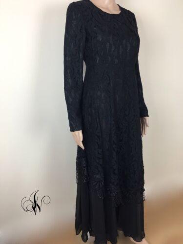 signore delle donne jilbab del maxi lungo del partito abaya kaftan delle Vestito merletto di xOqHwT6a
