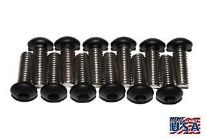 6 M10 x 1.5 x 20mm  Stainless Steel Button Head Cap Screws Powder Coated Black
