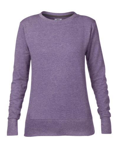 Anvil Women/'s Mid-Scoop French Terry Sweatshirt 72000L Ladies Plain Jumper Top