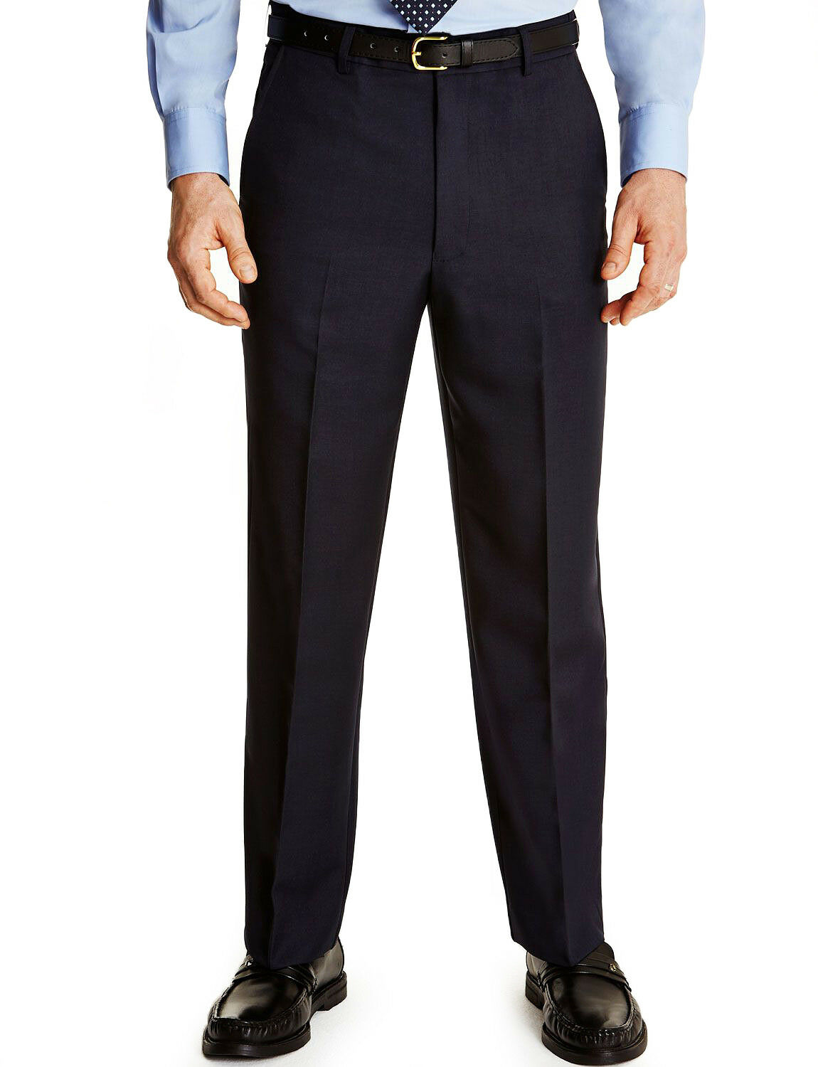 Farah® Flex Waist Trousers Navy - 36 33
