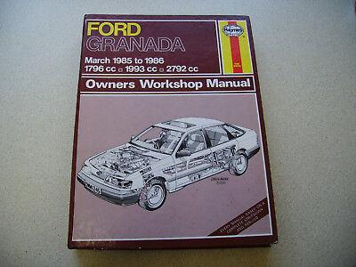 Ford Granada Ghia Ford Scorpio 1 8 2 0 2 8 Haynes Workshop Manual No 1245 Ebay